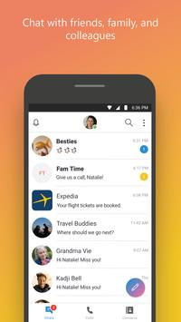 سكايب - رسائل فورية ومكالمات فيديو مجانية الملصق