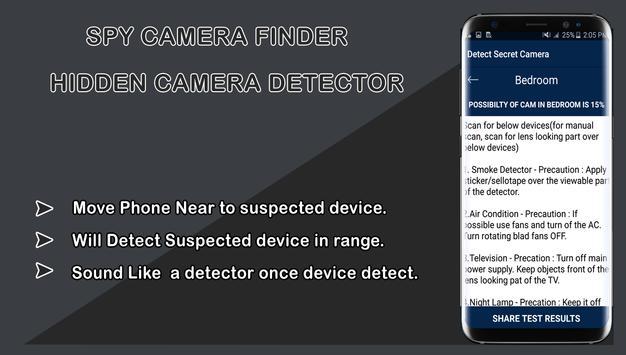 Spy camera finder-Hidden Camera Detector screenshot 5