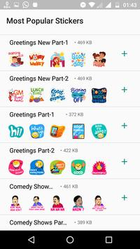 New Most Popular Indian Stickers - WAStickers APP screenshot 1
