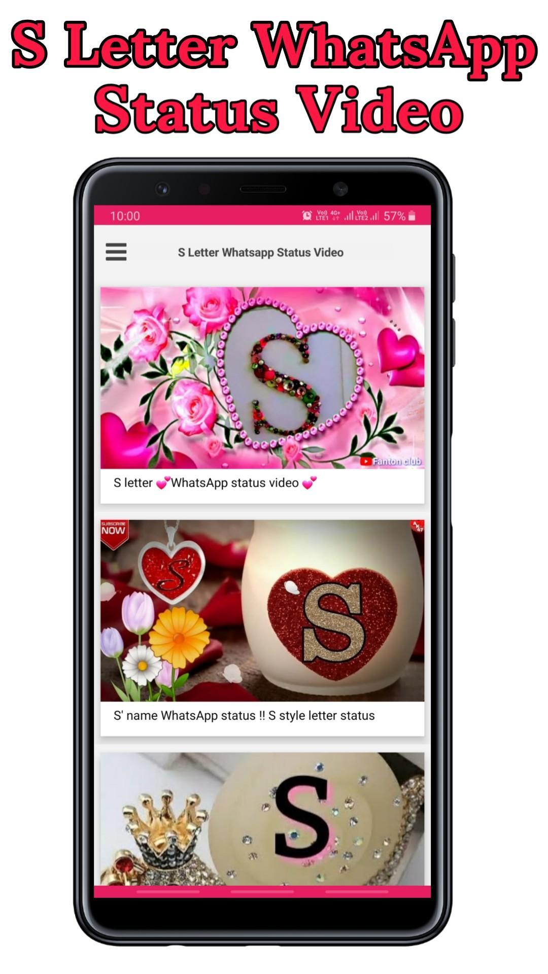 S Letter Status Video S Name Video Status For Android