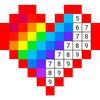 Раскраска по цифрам по клеточкам по номерам иконка