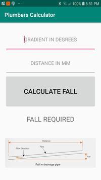 Plumbers Pipe Fall Calculator poster
