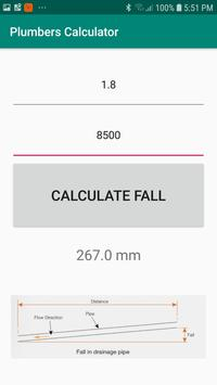 Plumbers Pipe Fall Calculator screenshot 1