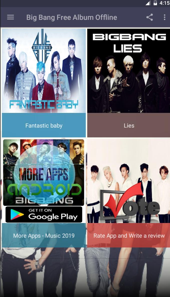 Big Bang Free Album Offline For Android Apk Download