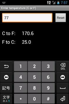 Celsius Fahrenheit screenshot 1