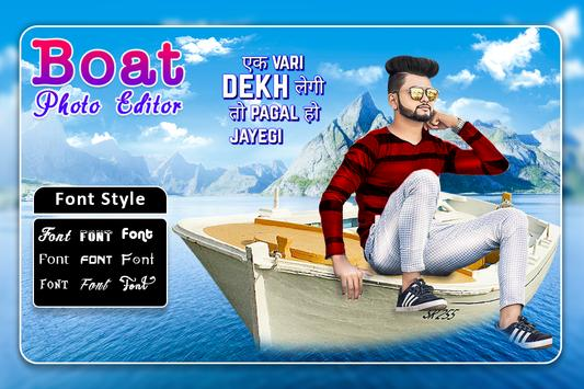 Boat Photo Editor poster