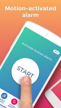 Don't touch my phone: Motion alarm app poster