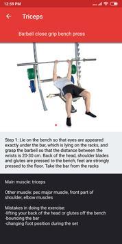 Gym Workout Plan for Weight Training screenshot 6