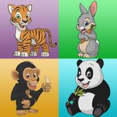 Ingatan permainan haiwan ikon