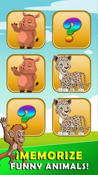Memory game animals screenshot 1