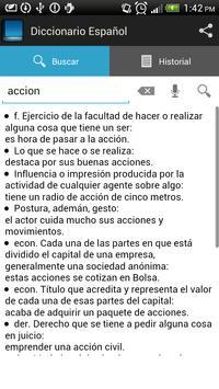 Spanish dictionary screenshot 1
