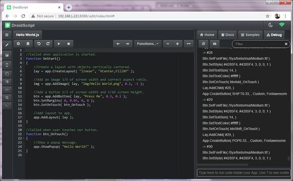 DroidScript Ekran Görüntüsü 4