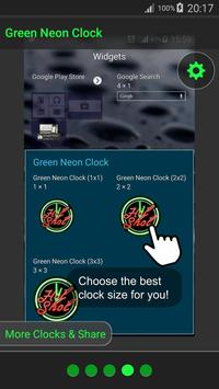 Green Neon Clock screenshot 6
