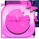 Pink Clock Widget APK