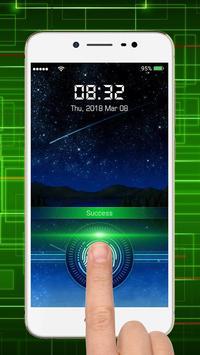 Fingerprint lock screen poster