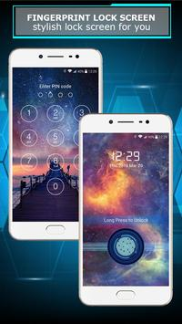 Fingerprint lock screen screenshot 2