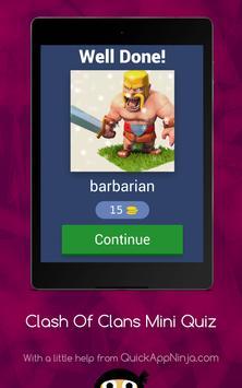 Clash Of Clans Mini Quiz New screenshot 13