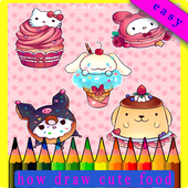 how to draw cute foods icon