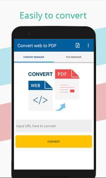Convert web to PDF poster