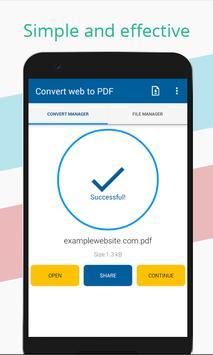 Convert web to PDF screenshot 1