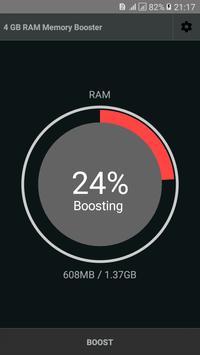 4 GB RAM Memory Booster screenshot 1