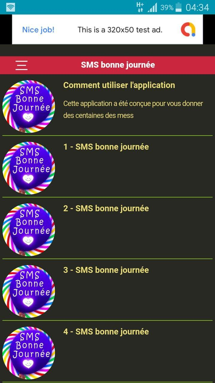 Message Damour Matinal Sms Bonne Journée For Android
