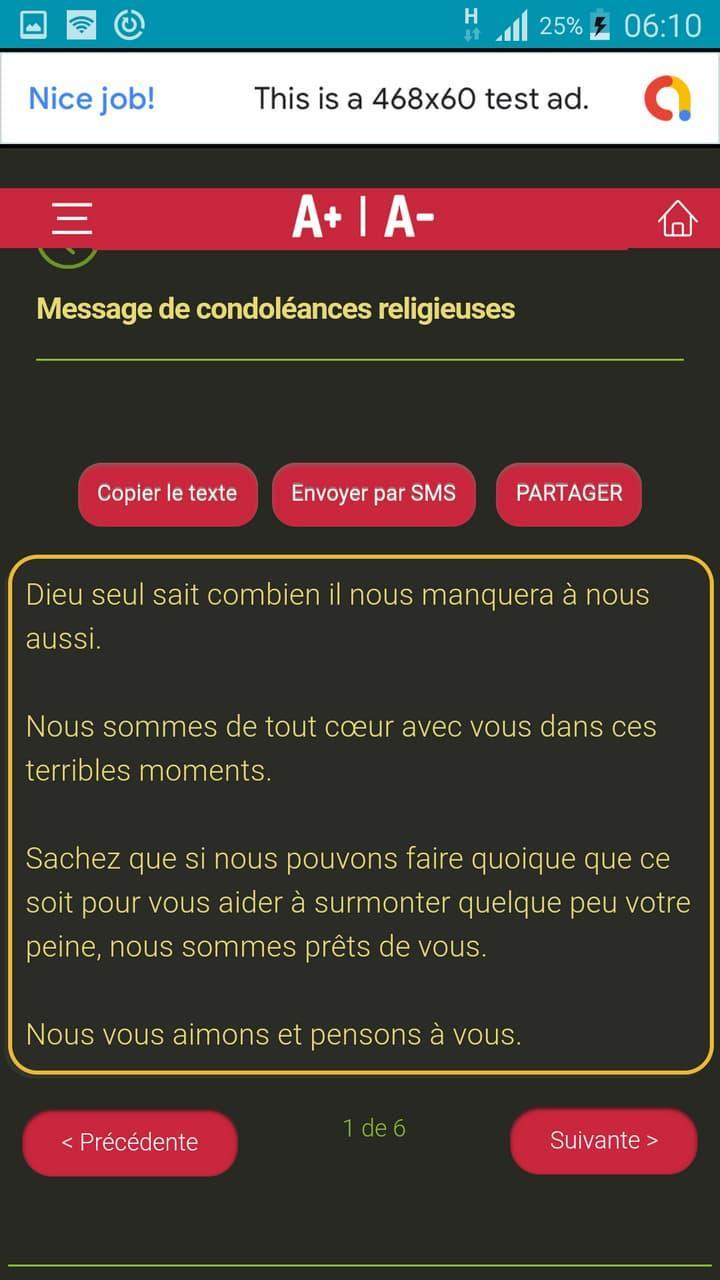 Message De Condoléances Touchantes Pour Android