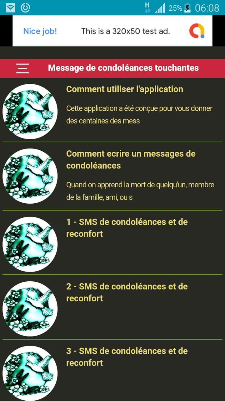 Message De Condoléances Touchantes For Android Apk Download