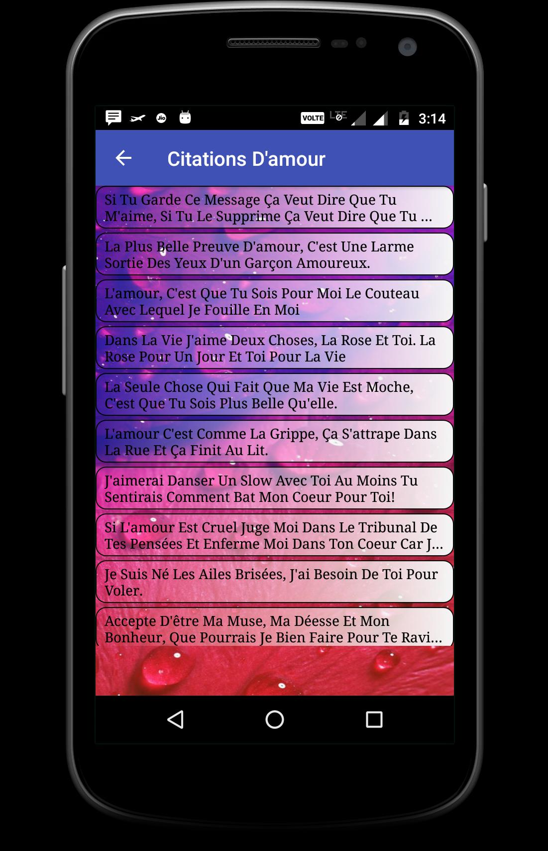 Messages Et Poemes Damour En Français For Android Apk