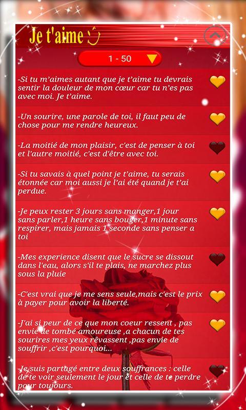 Sms Amour Pour Elle Pour Android Téléchargez Lapk