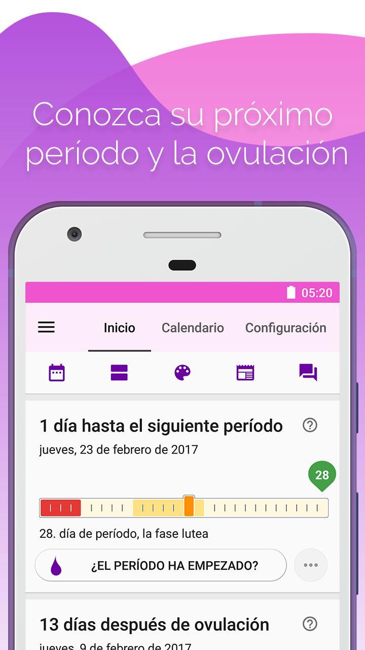calendario para saber mi proxima menstruacion
