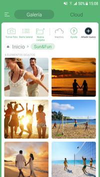 Ocultar las fotos y vídeos captura de pantalla 1