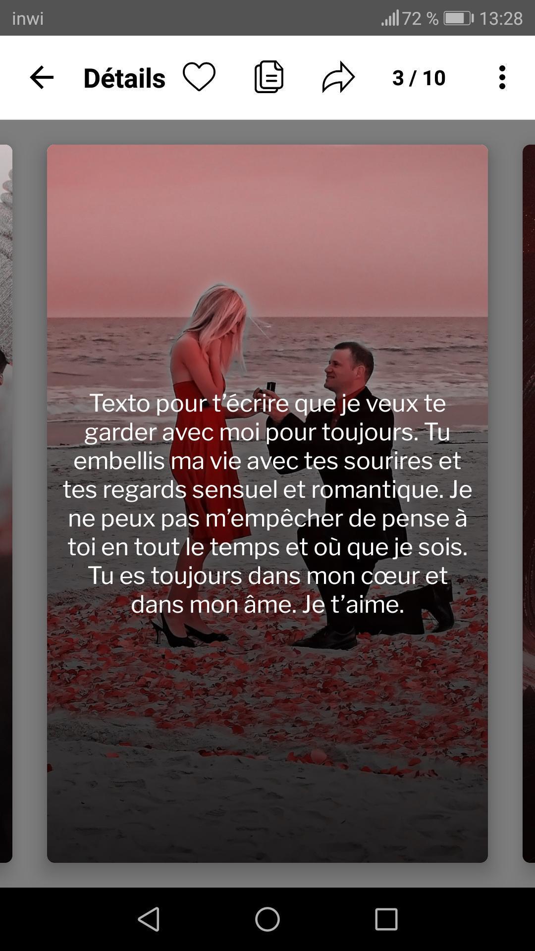 Sms Damour Les 1000 Plus Beaux Sms Romantique For Android