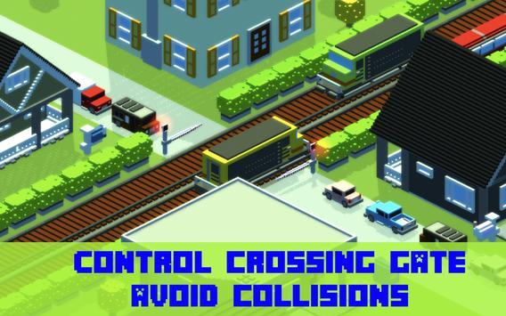Railroad crossing - Train crash mania poster