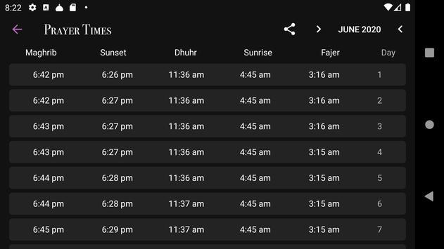 Prayer Times captura de pantalla 3