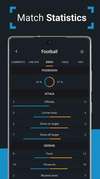 Ads free Live Scores for Football - SnapScore स्क्रीनशॉट 2