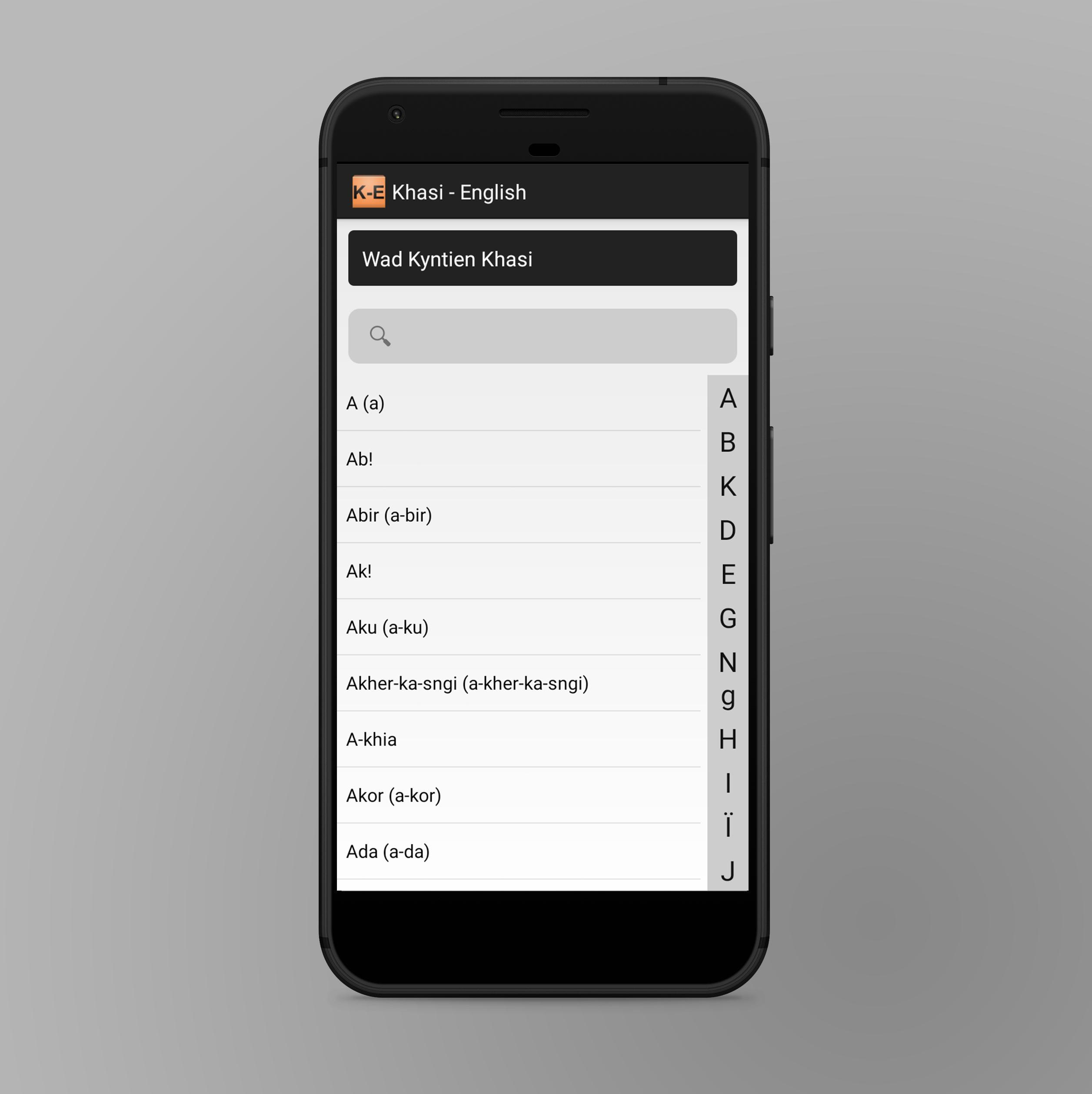 Khasi To English Dictionary for Android - APK Download