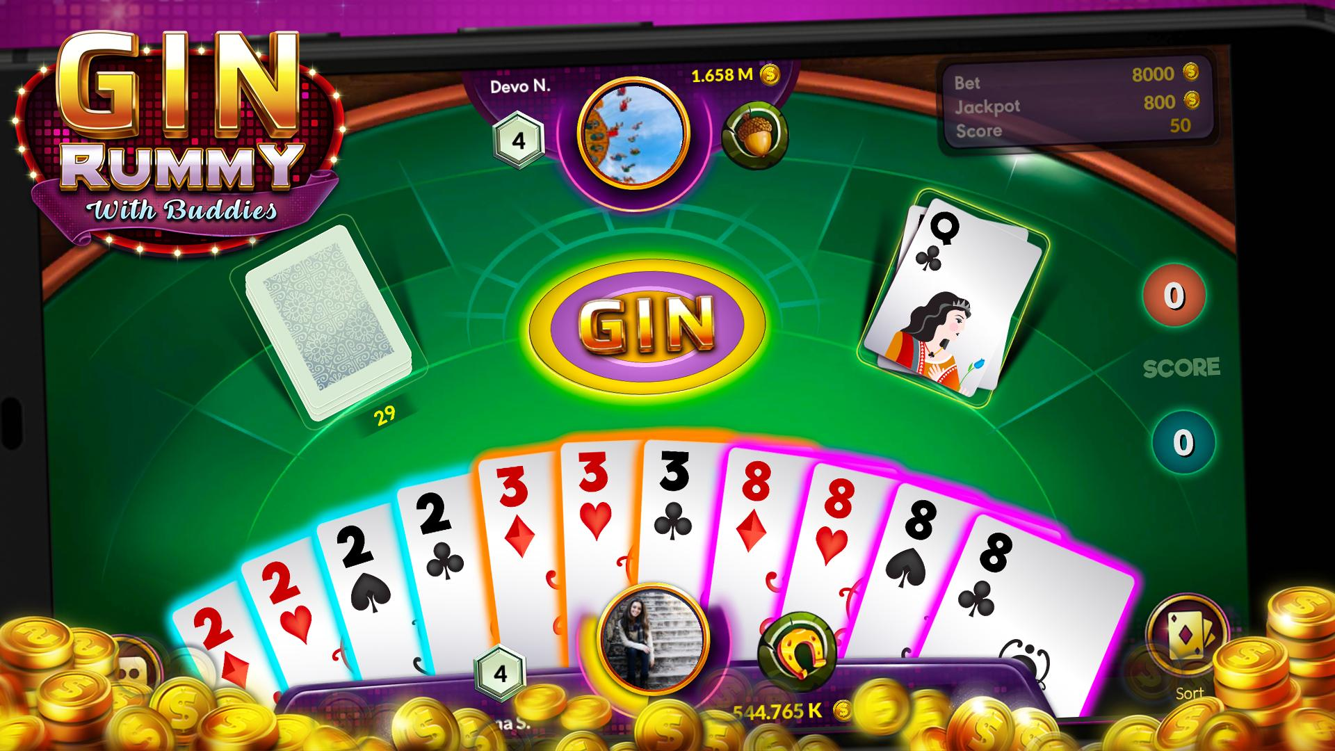 free gin rummy card games online