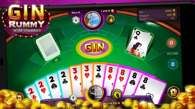 Gin Rummy - Online Free Card Game poster