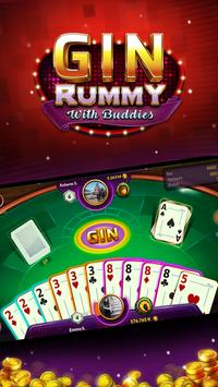 Gin Rummy - Online Free Card Game screenshot 1