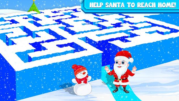 Kids Maze : Educational Puzzle Christmas screenshot 3