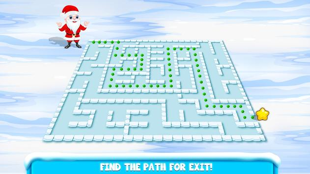 Kids Maze : Educational Puzzle Christmas screenshot 4