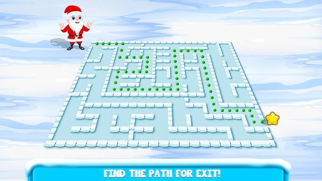 Kids Maze : Educational Puzzle Christmas screenshot 8
