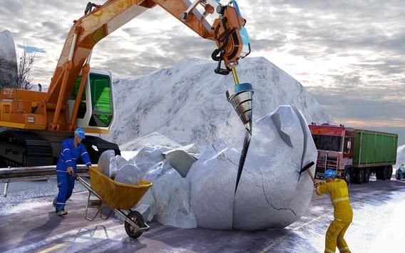 Poster Snow Excavator