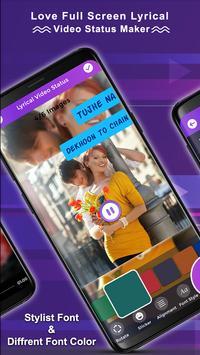 Love Full Screen Lyrical Video Status Maker screenshot 2