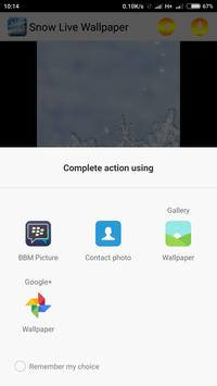 Snow Live Wallpaper screenshot 1