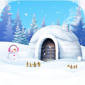 Escape room:snow room icon