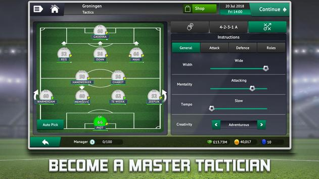 Soccer Manager 2019 - Top Football Management Game स्क्रीनशॉट 2