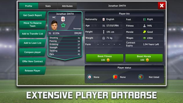 Soccer Manager 2019 - Top Football Management Game स्क्रीनशॉट 3