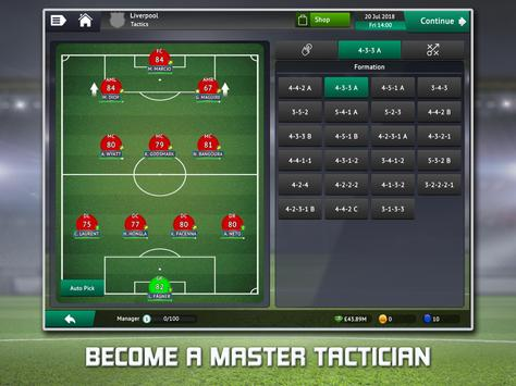 Soccer Manager 2019 - Top Football Management Game स्क्रीनशॉट 7